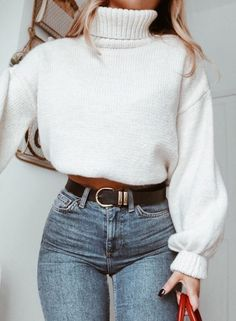 25 Trendy and Cozy Sweater Outfits for Girls 2019 25 Trendy and Cozy Sweater Outfits for Girls; The post 25 Trendy and Cozy Sweater Outfits for Girls 2019 appeared first on Sweaters ideas. Mode Outfits, Trendy Outfits, Fashion Outfits, Womens Fashion, Fashion Ideas, Fashion Tips, Fashion Clothes, Women's Clothes, School Outfits