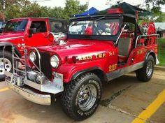 Jeep firetruck... off road!