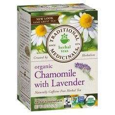Traditional Medicinals Organic Chamomile With Lavender Herbal Tea - Caffeine Free - Case Of 6 - 16 Bags Lavender And Lemon, Lavender Tea, Different Types Of Tea, Best Detox, Lemon Balm, Detox Tea, Detox Drinks, Peppermint, Herbalism