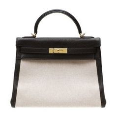 Hermes Kelly Bag 32 Retourne Ebene Ebony Cotton Canvas With Clemence Leather Gold Hardware The Hermes Birkin bag vs Hermes Kelly bag Hermes Kelly Taschen, Hermes Kelly Bag, Hermes Bags, Hermes Birkin, Birkin Bags, My Bags, Purses And Handbags, At Least, Satchel