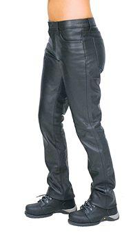 Women's Mid-Rise Premium Cowhide Leather Pants #LP711K
