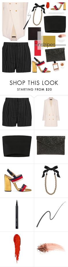 """""""Perfect Pinstripes"""" by bklana ❤ liked on Polyvore featuring STELLA McCARTNEY, The Row, Calvin Klein Collection, Rebecca Minkoff, Gucci, Lanvin, Bobbi Brown Cosmetics, Stila, NARS Cosmetics and bklana"""