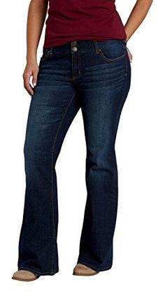 5fcdf68ab07 Maurices Womens Plus Size Kaylee Two Button Flare Jeans In Dark Wash 16 Dark  Sandblast