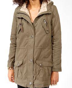Faux Fur Cargo Coat   FOREVER21 - 2005756896