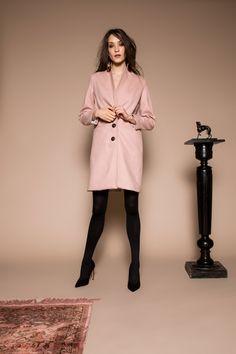 Venir coat by Celeni Straight Cut, Powder, Chic, Jackets, Style, Fashion, Shabby Chic, Down Jackets, Swag