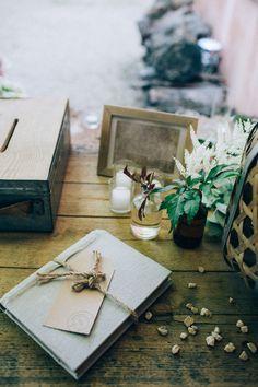 Livre d'or mariage bohème par Atelier Blanc Organisation et Décoration Photographie Ingrid Lepan