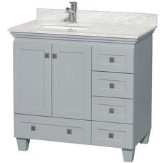 "Acclaim 36"" Single Bathroom Vanity - Oyster Gray (Catalog) - Wyndham Collection®"