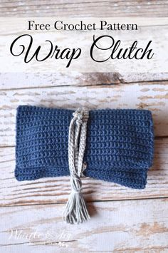 FREE Pattern: Crochet Wrap Clutch | Make this pretty wrap clutch, perfect size for a night out. This is an excellent beginner project!