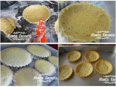 Massa de torta de amêndoas, fica macia e crocante, com sabor inigualável. Até o nome em francês dela Pâte Sablée d'Amande é gostoso. Mini Tortillas, Quiche, Arabic Food, Pasta, Cheesecake, Biscuits, Bakery, Recipies, Muffin