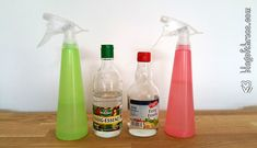 vinegar-spray Diy Cleaning Products, Cleaning Solutions, Cleaning Supplies, Spray Bottle, Vinegar, Magic, Cooking, Tips, House