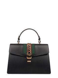 9f0c5a500e84b4 GUCCI Black Sylvie Leather Top Handle Bag. #gucci #bags #shoulder bags  #hand bags #leather #