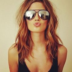 Pretty hair and ray ban sunglasses  http://the-brightest-fireworks.tumblr.com