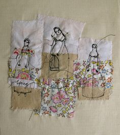 amazing embroidery artwork by Cathy Cullis