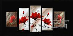 Framed!!! Modern Wall Deco Floral Art Abstract Flower Oil Painting On Canvas