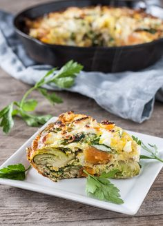 Farm Harvest Frittata (brussel sprouts, kale and sweet potato)