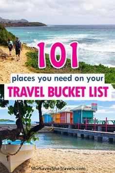 The ultimate guide to creating a travel bucket list, including 101 destinations! Fuel your wanderlust, start dreaming and planning now. Includes travel bucket list destinations all over the US and world! #vacation #bucketlist #travel #vacation  Travel bucket list places  |  Best places to go  |  Best places to travel  | Bucket list Vacation Travel, Dream Vacations, Travel Usa, Family Travel, Travel Tips, Luxury Travel, Vacation Spots, Travel Guides, Best Places To Travel