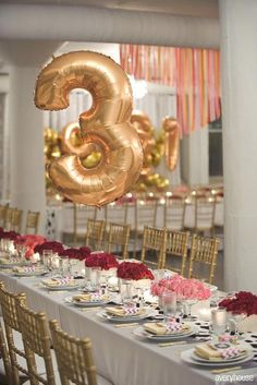 Detail To Love: Balloon Table Numbers! Detail To Love: Balloon Table Numbers! - at party city Loft Wedding, Wedding Reception, Dream Wedding, Wedding Trends, Wedding Designs, Wedding Ideas, Party Planning, Wedding Planning, Love Balloon