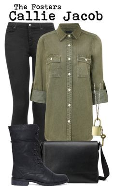 """The fosters- Callie Jacob"" by darcy-watson ❤ liked on Polyvore featuring Topshop, Koral, Gucci and Z Designs"