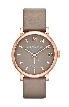 Could wear this polished rose gold and grey Marc Jacobs watch every day. / @nordstrom #nordstrom
