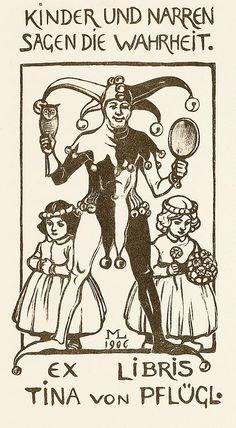 Maximilian Liebenwein - Ex Libris Pflügl 1906 - Bookplate - Wikipedia