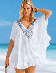 eşarptan plaj elbise modelleri