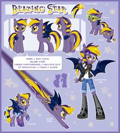 Blazing Star Official Reference Guide by Centchi on DeviantArt Mlp Characters, My Little Pony Characters, Mlp My Little Pony, My Little Pony Friendship, Mlp Adoption, Mlp Pony, Pony Pony, Little Poni, Mlp Comics