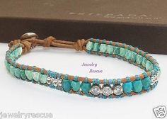 Silpada-All-Wrapped-Up-Bracelet-Turquoise-Leather-925-Sterling-Silver-B2877-Z