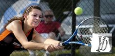 Leah Chiaverini played second singles for Central York.York Catholic vs. Central York girls tennis, Tuesday, August 27,2013.  Bil Bowden photos