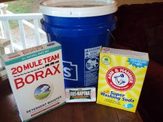 Two of a kind, working on a full house: Homemade Liquid Laundry Detergent -- Duggar Style!
