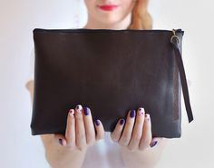 Use this tutorial to DIY a chic faux leather clutch.