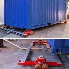 Carros contenedor / patines: Para cargas desequilibradas