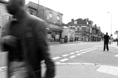 this is a photo of selhurst high street . i used levels and curvels to obtain a black and white back round but if you look carfully you can see one person in colour - i was thinking that that was a good optinity to show peoples individuality or sixth sence- the ablity to feel what they are felling - empathy