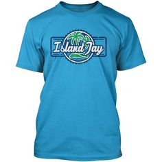 44c09fa1758e99 Island Jay Palm Tree Logo T-Shirt Tree Logos