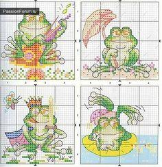 Cross stitch Frogs