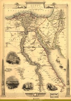 Map of Egypt, 1851