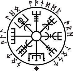 Vegvisir - Not All Who Wander Are Lost Norse Runes, Viking Symbols, Viking Art, Viking Runes, Mayan Symbols, Egyptian Symbols, Ancient Symbols, Fenrir Tattoo, Armor Tattoo