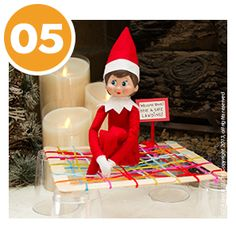 Elf Landing Net! A great idea when we want our Elfie to sit near us when we watch Christmas movies at night.