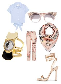 First time by moyra-kleynhans on Polyvore featuring polyvore, мода, style, MM6 Maison Margiela, River Island, Longchamp, Jimmy Choo, fashion and clothing