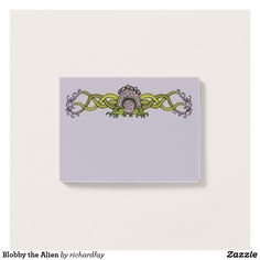 Blobby the Alien Post-it Notes.  50% Off with code ZPERFECTPAIR.  Offer is valid through October 2, 2017, 11:59 PM PT.  #Zazzle #post_it_notes #alien #tentacled_alien #alien_monster #alien_creature #monster