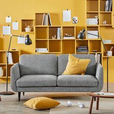 SKULTORP 2 sofa - black / white, black - IKEA Black Sofa, Ikea, Love Seat, Shelves, Couch, Black And White, Living Room, Furniture, Home Decor