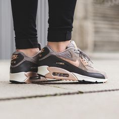 nike air max 90 womens rose gold arrive in our store for you! All Nike Air Max with high quality on sale! New Nike Sneakers, Nike Shoes Cheap, Nike Free Shoes, Nike Shoes Outlet, Cheap Nike, Men Sneakers, Buy Cheap, Nike Air Max 90s, Nike Air Max For Women