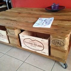 DIY: Une table basse en palette | Salons, Tables and Pallets