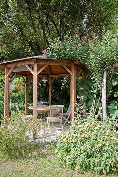 arredo giardino legnogazebo wood bench garden