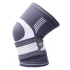 Liveup SPORTS Compression Knee Support Brace with Adjustable Elastic Bandage Straps for Arthritis Tennis LS5676 L Size * You can find out more details at the link of the image.