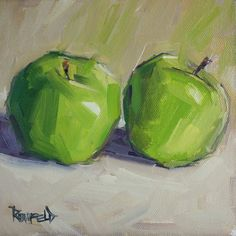 another apple painting for the kitchen