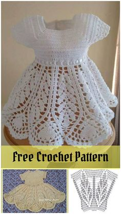 Beautiful Lotus Baby Dress Free Crochet Pattern Home decor <b>Home decor.</b> Beautiful Lotus Baby Dress Free Crochet Pattern. Crochet Baby Dress Free Pattern, Crochet Dress Girl, Baby Dress Patterns, Baby Girl Crochet, Crochet Baby Clothes, Baby Knitting Patterns, Crochet Patterns, Crochet Baby Dresses, Pattern Dress
