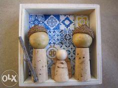 Presépios Artesanais - Cortiça Massamá E Monte Abraão - imagem 4 Holiday Crafts, Christmas Crafts, Christmas Decorations, Christmas Ornaments, Diy Nativity, Nativity Scenes, Diy And Crafts, Crafts For Kids, 242