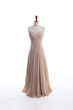 A-line empire waist chiffon dress for bridesmaids.