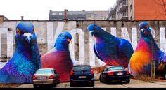 Street Art by Super A in Antwerp   #art #mural graffiti #streetart
