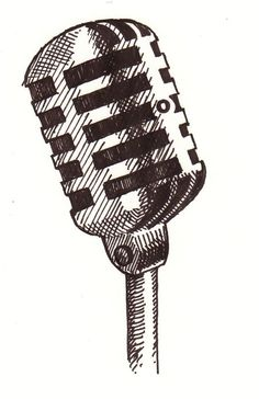 Drawings and findings by France Belleville-Van Stone. Microphone Drawing, Old Microphone, Singing Microphone, Music Drawings, Easy Drawings, Drawing Sketches, Singing Drawing, Micro Chant, Aesthetic Drawing